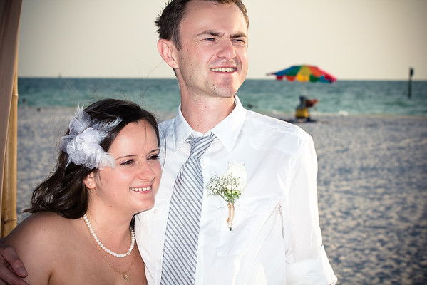 Beach Wedding in Clearwater, Florida
