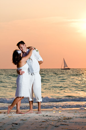 Beach Wedding at Clearwater Beach, Florida
